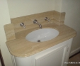 Travertine stone vanity top