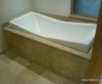 Travertine Denezil beige bath top