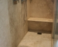 Limestone shower seat