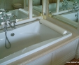Crema marfil marble bath surround