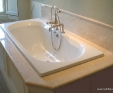 Crema Marfil bath surround