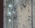 Arabascata marble shower panels