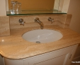 Vanity top in Travertine Classico