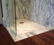 Arabascato marble shower tray