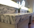 Marble vanity in Arabascato Corchia