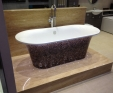 Travertine bath plinth