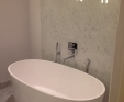 Carrara marble bathroom wall panels