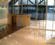 Botticino Classico and Africa Red granite floor tiles