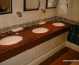 Africa Red granite vanities