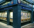 Blue Pearl granite shop front cladding