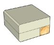 Square chamfered flat 20 + 20