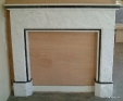 Carrara marble fireplace