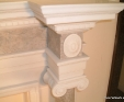 Carved marble fireplace detail