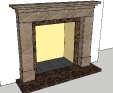 Custom design for a real fire marble fireplace