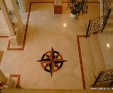 Marble Floor Compass pattern