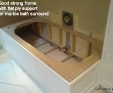 Marble bath surround support structure