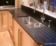 Black granite with a honed finish