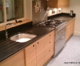 Nero Assoluto honed granite kitchen