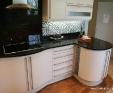 Cosmos black granite kitchen worktop