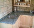 Turquoise granite kitchen worktops