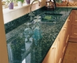 Magic green granite and upstand kitchen worktop