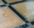 polished black granite strip