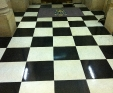 Chequered marble floor