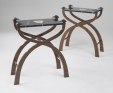 Rupert McBain tables with Nero Marquini marble tops