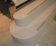 Caesar Blizzard engineered stone staircase