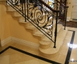 Jerusalem Antique Gold Limestone Staircase and tread