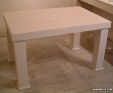 Crema Luna limesone table top and legs
