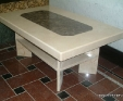 Crema Marfil stone coffee table