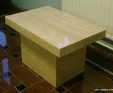 Travertine Classico stone side table
