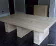 Travertine Classico dining room table
