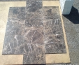 Maron Imperial marble tiles
