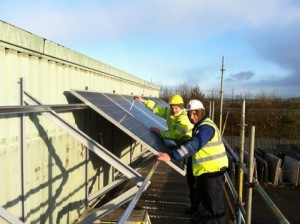 Fitting Solar Panels to Marble Arts factory