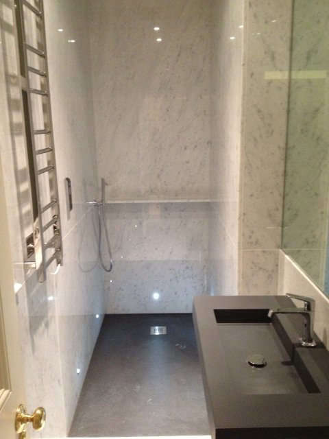 Marble Shower And Bathroom In Central London Eaton Place