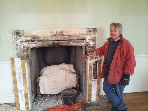 dismantle fireplace