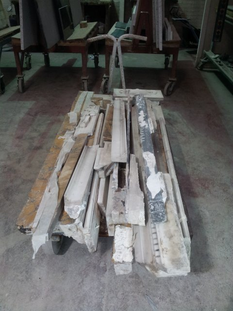 Marble Fireplace in bits