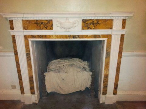 Compleat repaired period marble fireplace